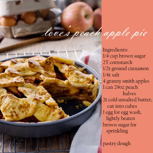 love's peach apple pie